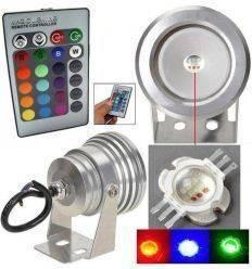 PRO-DJ PROYECTOR LED RGB IP65 10W 12V GRIS