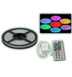 PRO-DJ TIRA LED FLEXIBLE RGB IP65 + FUENTE + MANDO