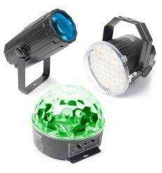 BEAMZ 153.736 PACK 1 ILUMINACION MOON, STROBO, STAR