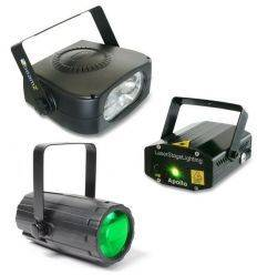 BEAMZ 153.786 PACK ILUMINACION 3 MOON FLOWER + LASER + FLASH En existencia