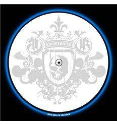 GLOWTRONICS DENON 3700 SLIPMATS KING SKULL