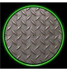 GLOWTRONICS DENON 3700 SLIPMATS DIAMOND PLATE