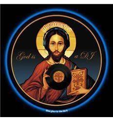 GLOWTRONICS DENON 3700 SLIPMATS GOD IS A DJ