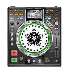 GLOWTRONICS DENON CD SLIPMATS SKULL STAR