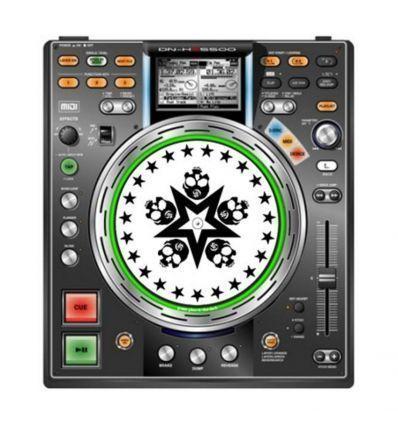 GLOWTRONICS DENON CD SLIPMATS SKULL STAR