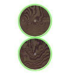 GLOWTRONICS DENON CD SLIPMATS WOOD GRAIN