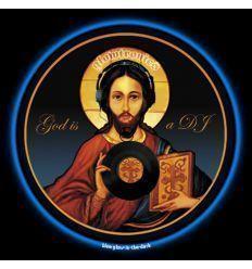GLOWTRONICS DENON CD SLIPMATS GOD IS A DJ