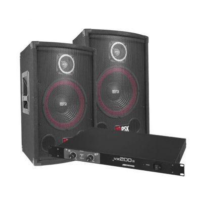 PSK SISTEMA SONIDO 200W PSX-08 + VX-200