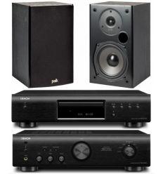 DENON PMA-520 BK+DCD520BK+POLK T15 características precio