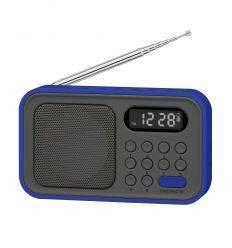 SYTECH SY1648AZ RADIO AM/FM CON RELOJ Y ALARMA AZUL características precio