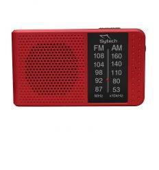 SYTECH SY1662RJ RADIO DE BOLSILLO CON ALTAVOZ ROJO características precio