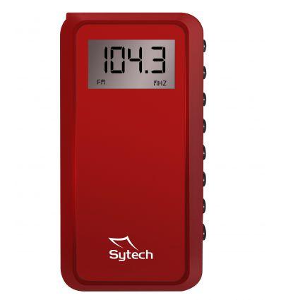 SYTECH SY1671RJ RADIO DE BOLSILLO DIGITAL ROJO características precio