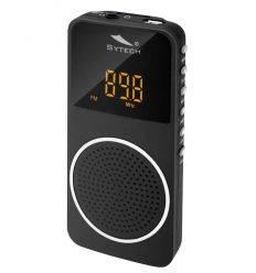 SYTECH SY1676NG RADIO DE BOLSILLO CON BATERIA NEGRO características precio