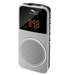 SYTECH SY1676PL RADIO DE BOLSILLO CON BATERIA PLATA características precio