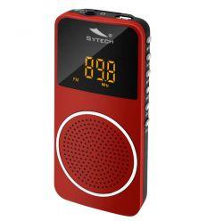SYTECH SY1676RJ RADIO DE BOLSILLO CON BATERIA ROJO características precio