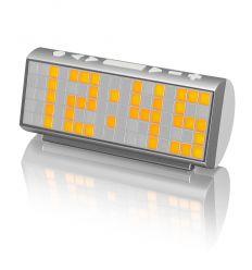 SYTECH SY1037 RADIO DESPERTADOR DOT MATRIX GRIS características precio