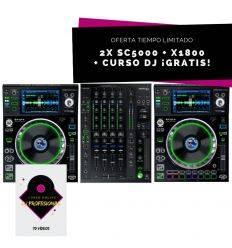 CABINA DENON DJ: 2X SC5000 + X1800 mejor precio comprar promocion prime reproductor mezclador mesa mezclas