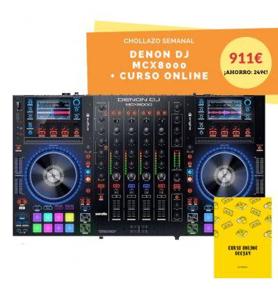 DENON DJ MCX8000 MCX 8000 controlador usb autonomo all in one usb pendrive 4 cuatro canales serato engine comprar precio oferta