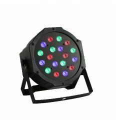 PRO-DJ FOCO PAR LED RGB FLAT 18X3W DMX 512 características precio