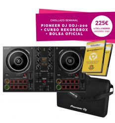 PIONEER DJ DDJ-200 controlador ddj200 principiante economico barato weDJ iphone recordbox iniciacion precio pinchar mezc