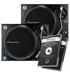 PAREJA PIONEER DJ PLX-1000 + CURSO ONLINE AVANZADO MEZCLA CON VINILOS