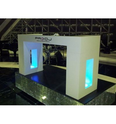 PRO-DJ STAND BASIC LED - MUEBLE CABINA MADERA DISCOTECA